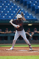 Jay Allen (17) of John Carroll Catholic HS in Fort Pierce, FL of the San Francisco Giants scout team during the East Coast Pro Showcase at the Hoover Met Complex on August 2, 2020 in Hoover, AL. (Brian Westerholt/Four Seam Images)