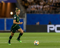 GRENOBLE, FRANCE - JUNE 18: Aivi Luik #3 of the Australian National Team dribbles during a game between Jamaica and Australia at Stade des Alpes on June 18, 2019 in Grenoble, France.