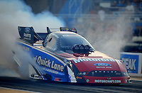 Jul, 8, 2011; Joliet, IL, USA: NHRA funny car driver Bob Tasca III during qualifying for the Route 66 Nationals at Route 66 Raceway. Mandatory Credit: Mark J. Rebilas-