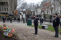 Le premier ministre du Québec, M. François Legault,<br /> lors du <br /> Jour du souvenir , 11 Novembre 2020, a Quebec<br /> <br /> PHOTO :  Emilie Nadeau