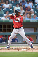 Ivan De Jesus Jr. (13) of the Pawtucket Red Sox at bat against the Charlotte Knights at BB&T BallPark on July 19, 2018 in Charlotte, North Carolina. The Knights defeated the Red Sox 4-3.  (Brian Westerholt/Four Seam Images)