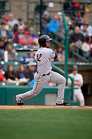 Charlotte Knights Ivan De Jesus Jr. (12) at bat during an International League game against the Rochester Red Wings on June 16, 2019 at Frontier Field in Rochester, New York.  Rochester defeated Charlotte 3-2 in the second game of a doubleheader.  (Mike Janes/Four Seam Images)