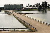 Reservoirs belonging to Thames Water in Hampton, West London.