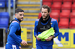 St Johnstone Training...21.05.21<br />Craig Conway and Stevie May pictured during training at McDiarmid Park this morning ahead of tomorrow's Scottish Cup Final against Hibs.<br />Picture by Graeme Hart.<br />Copyright Perthshire Picture Agency<br />Tel: 01738 623350  Mobile: 07990 594431
