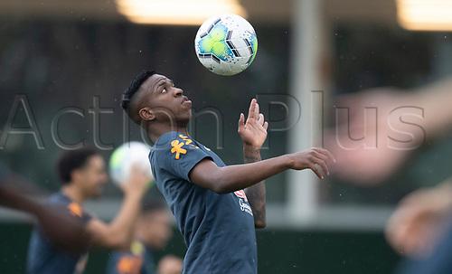 11th November 2020; Granja Comary, Teresopolis, Rio de Janeiro, Brazil; Qatar 2022 qualifiers; Vinicius Jr. of Brazil during training session in Granja Comary