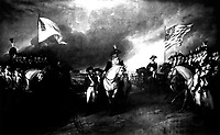 Surrender of Cornwallis.  October 1781.  Copy of painting by John Trumbull, 1819-20. (Dept. of Agriculture)<br /> Exact Date Shot Unknown<br /> NARA FILE #:  016-AD-60<br /> WAR & CONFLICT #:  500 .