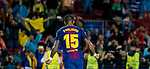 Jose Paulo Bezerra Maciel Junior, Paulinho, of FC Barcelona celebrates during the UEFA Champions League 2017-18 match between FC Barcelona and Olympiacos FC at Camp Nou on 18 October 2017 in Barcelona, Spain. Photo by Vicens Gimenez / Power Sport Images