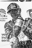 2018 Verizon IndyCar Series - Firestone Grand Prix of St. Petersburg<br /> St. Petersburg, FL USA<br /> Sunday 11 March 2018<br /> Sébastien Bourdais, Dale Coyne Racing with Vasser-Sullivan Honda, podium, champagne<br /> World Copyright: Michael L. Levitt<br /> LAT Images<br /> ref: Digital Image _33I8597