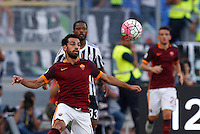 Calcio, Serie A: Roma vs Juventus. Roma, stadio Olimpico, 30 agosto 2015.<br /> Roma's Mohamed Salah controls the ball during the Italian Serie A football match between Roma and Juventus at Rome's Olympic stadium, 30 August 2015.<br /> UPDATE IMAGES PRESS/Riccardo De Luca
