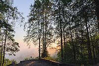 Morgenstimmung am Paradieshügel bei Sigulda, Lettland, Europa