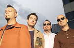 """MCA recording artists, Live, pose for a photo session in Atlanta, GA...The band will be releasing a new album, """"Birds of Prey,"""" on May 20, 2003.  This is the bands' sixth studio album."""