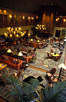 The warm, cozy and inviting lobby of the Ko'ele Lodge on the Island of Lanai.