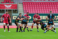 Rob Evans of Scarlets in action during the Guinness Pro14 Round 02 match between the Scarlets and Zebre Rugby at the Parc Y Scarlets Stadium in Llanelli, Wales, UK. Saturday 12 October 2019