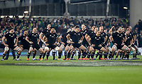 Saturday 17th November 2018 | Ireland vs New Zealand<br /> <br /> The Haka during 2018 Guinness Series between Ireland and Argentina at the Aviva Stadium, Lansdowne Road, Dublin, Ireland. Photo by John Dickson / DICKSONDIGITAL