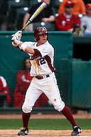 Bo BIgham (12);March 9th, 2010; South Dakata State University vs Arkansas Razorbacks at Baum Stadium in Fayetteville Arkansas. Photo by: William Purnell/Four Seam Images