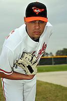 Feb 27, 2010; Tampa, FL, USA; Baltimore Orioles  pitcher Michael Gonzalez (51) during  photoday at Ed Smith Stadium. Mandatory Credit: Tomasso De Rosa