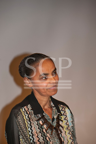 Washington DC, USA. Brazilian Presidential candidate Marina Silva, ex-Environment Minister and senator, keynote speaker at the Chico Vive conference, 4th April 2014.