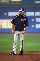 Brooklyn Cyclones Manager Wally Backman (6) during first team workout at MCU Park in Brooklyn, NY June 15, 2010.  Photo By Tomasso DeRosa/Four Seam Images