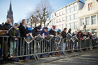 waiting for the riders to ride by on their way to the start podium<br /> <br /> 99th Ronde van Vlaanderen 2015