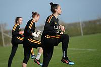 20190226 - LARNACA , CYPRUS :  Belgian goalkeeper Nicky Evrard pictured during a Matchday -1 training from The Belgian Red Flames prior to their game against the women team of Slovakia , on Tuesday 26 February 2019 at the Alpha Sports Grounds in Larnaca , Cyprus . This will be the first game in group C for Belgium during the Cyprus Womens Cup 2019 , a prestigious women soccer tournament as a preparation on the European Championship 2021 qualification duels. PHOTO SPORTPIX.BE   STIJN AUDOOREN