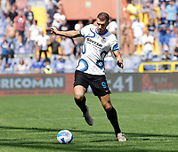 Edin Dzeko of Inter 12th September 2021; G.Ferraris Stadium, Genoa, Italy; Serie A football, Sampdoria versus Inter Milan; Edin Dzeko of Inter controls the pass