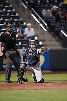 ***Temporary Unedited Reference File***Northwest Arkansas Naturals catcher Cam Gallagher (35) during a game against the Springfield Cardinals on April 26, 2016 at Hammons Field in Springfield, Missouri.  Northwest Arkansas defeated Springfield 5-2.  (Mike Janes/Four Seam Images)