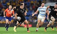 12th September 2021; Cbus Super Stadium, Robina, Queensland, Australia; Rugby International series, New Zealand versus Argentina:  David Havili open field run