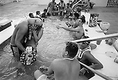 Panama City, Florida.USA.March 2004..Young Americans party in Florida for spring break 2004...Evening in the Islander II hotel hot tube..