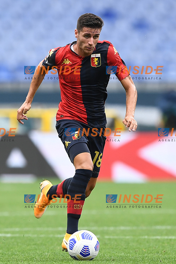 Paolo Ghiglione <br /> Serie A football match between Genoa CFC and FC Crotone at Marassi Stadium in Genova (Italy), September 20th, 2020. Photo Image Sport / Insidefoto