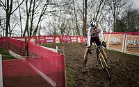 Wout van Aert (BEL/Jumbo-Visma) racing the UCI CX World Cup race in Overijse, Belgium on 24 january 2021