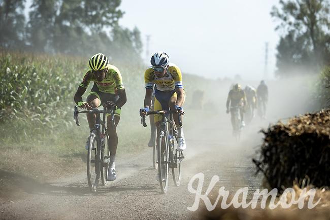 Baptiste Planckaert (BEL/Bingoal-WB) and Edward Planckaert (BEL/Sport Vlaanderen-Baloise)<br /> <br /> Antwerp Port Epic 2020 <br /> One Day Race: Antwerp to Antwerp 183km; of which 28km are cobbles and 35km is gravel/off-road<br /> Bingoal Cycling Cup 2020