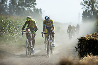 Baptiste Planckaert (BEL/Bingoal-WB) and Edward Planckaert (BEL/Sport Vlaanderen-Baloise)<br /> <br /> Antwerp Port Epic 2020 <br /> One Day Race: Antwerp to Antwerp 183km; of which 28km are cobbles and 35km is gravel/off-road<br /> Bingoal Cycling Cup 2020