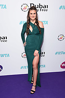 LONDON, UK. June 28, 2019: Katy Dunne arriving for the WTA Summer Party 2019 at the Jumeirah Carlton Tower Hotel, London.<br /> Picture: Steve Vas/Featureflash