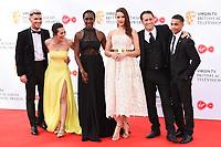 Kieron Richard son, Nadine Mulkerrin, Jaqueline Abraham, Anna passey, Nick Pickard<br /> arriving for the BAFTA TV Awards 2018 at the Royal Festival Hall, London<br /> <br /> ©Ash Knotek  D3401  13/05/2018