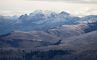 A light layer of autumn snow blankets Yellowstone's northern range.