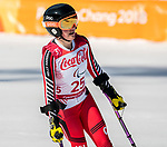 Frederique Turgeon, PyeongChang 2018 - Para Alpine Skiing // Ski para-alpin.<br /> Frederique Turgeon skis in the women's standing super-G // Frederique Turgeon skie dans le super-G debout des femmes. 11/03/2018.