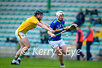 Darragh Kelly, Meath in action against Michael Slattery, Kerry, during the Round 1 meeting of Kerry and Meath in the Joe McDonagh Cup at Austin Stack Park in Tralee on Sunday.