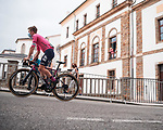Lawson Craddock (USA) EF Education-Nippo heads sign on before Stage 19 of La Vuelta d'Espana 2021, running 191.2km from Tapia de Casariego to Monforte de Lemos, Spain. 3rd September 2021.    <br /> Picture: Cxcling   Cyclefile<br /> <br /> All photos usage must carry mandatory copyright credit (© Cyclefile   Cxcling)