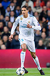 Raphael Varane of Real Madrid in action during the UEFA Champions League 2017-18 quarter-finals (2nd leg) match between Real Madrid and Juventus at Estadio Santiago Bernabeu on 11 April 2018 in Madrid, Spain. Photo by Diego Souto / Power Sport Images