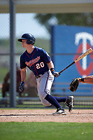 Minnesota Twins Austin Diemer (20) during a minor league Spring Training intrasquad game on March 15, 2016 at CenturyLink Sports Complex in Fort Myers, Florida.  (Mike Janes/Four Seam Images)