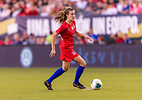 PHILADELPHIA, PA - AUGUST 29: Tierna Davidson #12 of the United States dribbles during a game between Portugal and the USWNT at Lincoln Financial Field on August 29, 2019 in Philadelphia, PA.