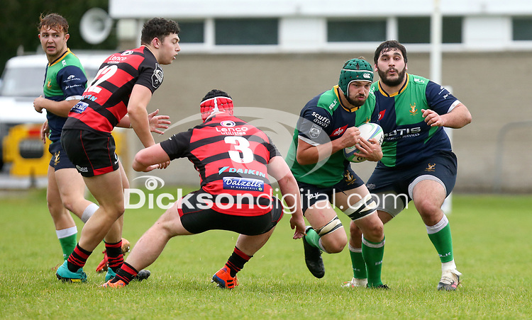Saturday 3rd October 2020 | Hinch vs Armagh<br /> <br /> Tommy Donnan on the attack for Ballynahinch during their Ulster Senior League clash against Armagh at Ballymacarn Park, Ballynahinch, County Down, Northern Ireland. Photo by John Dickson / Dicksondigital