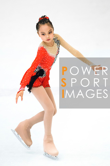 Xiangyun Gu of China competes during the Asian Junior Figure Skating Challenge Hong Kong 2016 at Kowloon Tong's Festival Walk Glacier on 03 October 2016, in Hong Kong, China. Photo by Marcio Machado / Power Sport Images