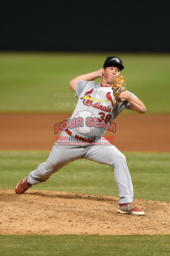 Peoria Javelinas pitcher Chris Perry (38) during an Arizona Fall League game against the Salt River Rafters on October 17, 2014 at Salt River Fields at Talking Stick in Scottsdale, Arizona.  The game ended in a 3-3 tie.  (Mike Janes/Four Seam Images)