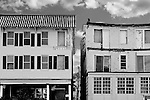 Old homes along Ocean Pathway in Ocean Grove, New Jersey