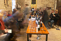visitors in the tasting room Chateau Belingard Bergerac Dordogne France