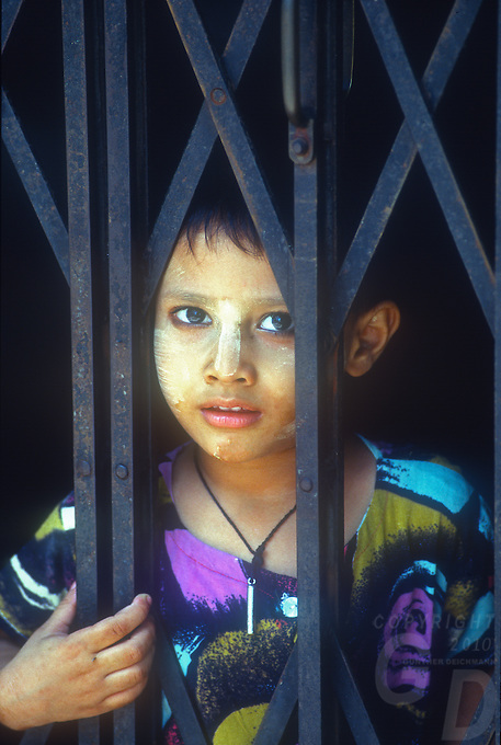 Portrait of a boy in Yangon, Myanmar/Burma
