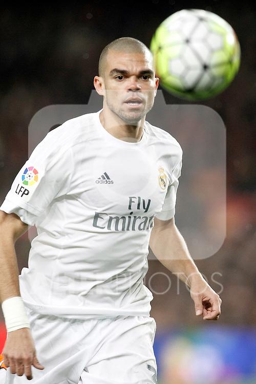 Real Madrid's Pepe during La Liga match. April 2,2016. (ALTERPHOTOS/Acero)