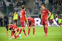 left to right Robert LEWANDOWSKI (M), Thomas MUELLER (MÃ_ller, M), Joshua KIMMICH (M), Leon GORETZKA (M) disappointed Soccer 1. Bundesliga, 1st matchday, Borussia Monchengladbach (MG) - FC Bayern Munich (M) 1: 1, on August 13th, 2021 in Borussia Monchengladbach / Germany. #DFL regulations prohibit any use of photographs as image sequences and / or quasi-video # Â