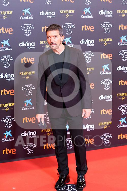 Antonio Banderas attends the red carpet previous to Goya Awards 2021 Gala in Malaga . March 06, 2021. (Alterphotos/Francis González)